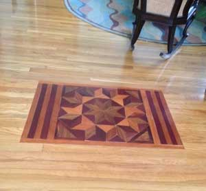 Custom Hardwood Floor Inlay